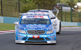 L.Ferrara (Merc AMG) SuperStars. Herbert and Biagi victorious in Superstars Series finale at Kyalami Royalty Free Stock Images