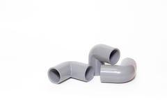 L forma da peça sobresselente do PVC para os encanamentos Fotografia de Stock