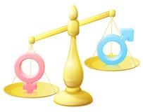 L'égalité entre les sexes mesure le concept Image libre de droits