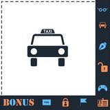 L?genhet f?r taxibilsymbol stock illustrationer