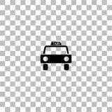 L?genhet f?r taxibilsymbol vektor illustrationer