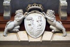 L'Genova-Italia Dettaglio della facciata il Palazzo Rosso immagine stock libera da diritti