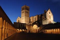 L'église de S Francis a illuminé Photographie stock