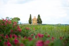 L'?glise de Vitaleta Paysage de Val d ?Orcia au printemps C?tes de la Toscane Val d ?Orcia, Sienne, Toscane, Italie - mai 2019 photo stock