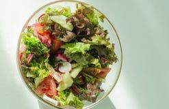 l?gume frais de tomate de salade de pr?paration de laitue de concombre images stock
