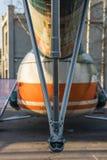 L'hélicoptère abandonné a été détruit Photo libre de droits