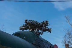L'hélicoptère abandonné a été détruit Photos stock