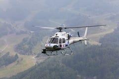 L'hélicoptère de la télévision de la France Image libre de droits