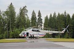L'hélicoptère du président de la Russie Images libres de droits