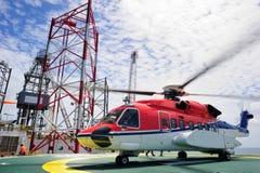 L'hélicoptère en mer Photographie stock libre de droits