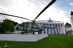 L'hélicoptère sur l'affichage Image stock