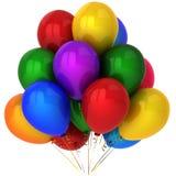 L'hélium coloré superbe monte en ballon (les locations) Photo libre de droits