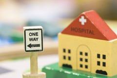 L'hôpital des signes de Toy Set en bois et d'une manière jouent t éducatif réglé Image libre de droits