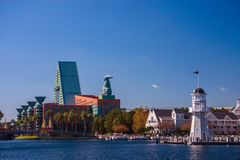 L'hôtel de cygne et de dauphin accueille 8000 participants d'IBM Lotusphere Photo libre de droits