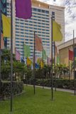 L'hôtel de Hyatt sur la route de Wrightson, Port-d'Espagne, Trinidad Photographie stock