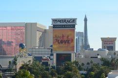 L'hôtel de mirage et le casino, aéroport international de McCarran, Las Vegas vénitien, la publicité, point de repère, ville, du  Images stock