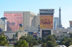 L'hôtel de mirage et le casino, aéroport international de McCarran, Las Vegas vénitien, zone métropolitaine, la publicité, point  Photo stock