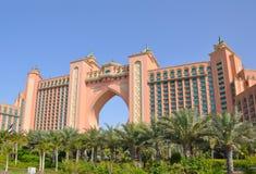 L'hôtel de renommée mondiale de l'Atlantide images stock