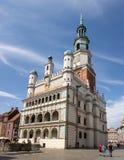 L'hôtel de ville célèbre à Poznan, Pologne à une place a appelé Stary Rynek photo libre de droits