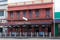L'hôtel fédéral, Maryborough, Queensland, Australie photo stock