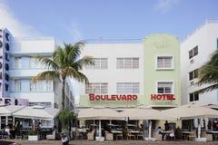 L'hôtel Miami Beach de boulevard Images libres de droits