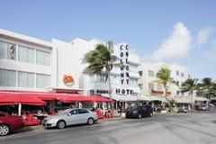 L'hôtel Miami de colonie Photo stock