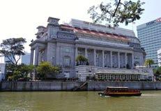 L'hôtel Singapour de Fullerton image libre de droits