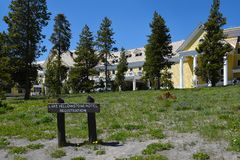 L'hôtel Yellowstone NP de lac Image libre de droits