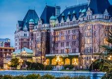 L'hôtel d'impératrice, Victoria AVANT JÉSUS CHRIST la nuit en mars Photos stock