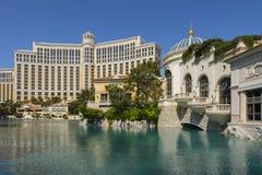 L'hôtel de Bellagio extérieur dans la lumière de jour Image libre de droits