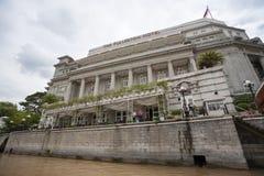 L'hôtel de Fullerton à Singapour photographie stock