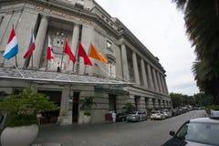 L'hôtel de Fullerton à Singapour images libres de droits