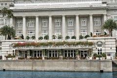 L'hôtel de Fullerton, Singapour Photos stock