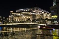 L'hôtel de Fullerton - Singapour Image libre de droits