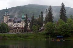 L'hôtel de palais dans les montagnes de Bukk chez Lillafured, Miskolc, H Photos stock