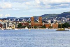 L'hôtel de ville d'Oslo Photo libre de droits