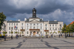 L'hôtel de ville dans Plock, Pologne photos stock