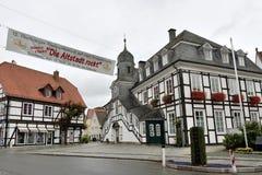 L'hôtel de ville historique de Rietberg, Allemagne images stock