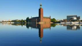 L'hôtel de ville, Stockholm banque de vidéos