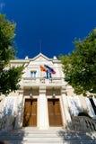 L'hôtel de Ville sur les sud du village de sommet de Frances de Ramatuelle, variété, France sur la Côte d'Azur Images libres de droits