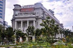 L'h?tel Singapour de Fullerton est un h?tel de luxe cinq ?toiles situ? pr?s de la bouche de la rivi?re de Singapour photographie stock libre de droits