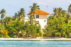 L'hôtel sur la petite île Images libres de droits