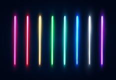 L'halogène a mené le paquet léger de lampes pour votre conception illustration libre de droits