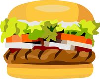 L'hamburger Images libres de droits