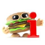 l'hamburger 3d ha informazioni illustrazione di stock