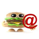 l'hamburger 3d ha un indirizzo email illustrazione vettoriale