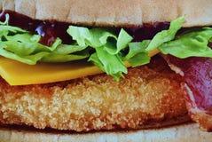 L'hamburger de poulet Images stock