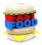 L'hamburger degli alimenti a rapida preparazione Immagini Stock