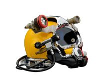 L helmet of the diver. Royalty Free Stock Photo