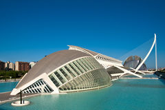 L'Hemisfèric. L'Hemisfèric — an Imax Cinema, Planetarium and Laserium, Santiago Clatrava  creation - Ciutat de les Arts i les Ciències, Valencia Royalty Free Stock Images